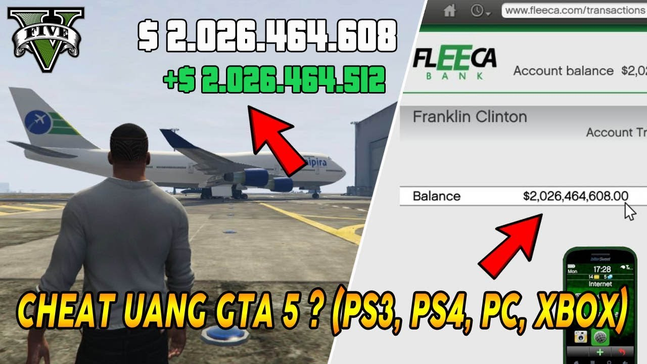 Cara Cheat GTA 5 PS3